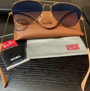 Women's RayBan Rosegold Sunglasses
